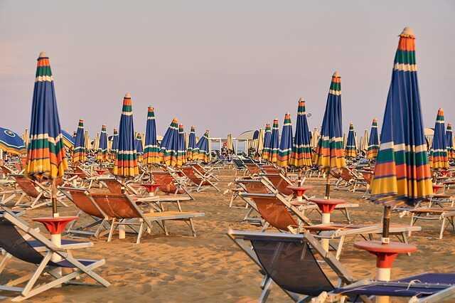 Olaszország közeli tengerpart